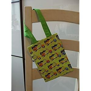 Einkaufsbeutel groß grün Vespa Roller Retro Beutel Einkaufstasche Tragetasche Geschenkverpackung