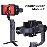 Rollei Steady Butler Mobile 2 Smartphone-Gimbal I Timelapse, Object-Tracking, Portret-en zoomfunctie I Gimbal voor iPhone en Android