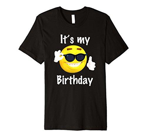 It S My Birthday Emoji T Shirt Jungen Und Madchen Funny Geschenk