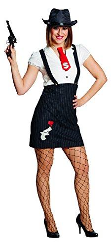 Damen Kostüm Al Capone Mafia Lady Karneval Fasching -