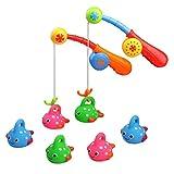 Newin Star Bad Spielzeug für Kinder Badewanne Lustiges Spielzeug Angelspiel mit nettem Fisch und Angel Ideales Geschenk für Kleinkinder Jungen Mädchen
