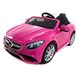 Babycoches - Coche eléctrico para niños Mercedes Benz S63, con LICENCIA OFICIAL, con mando a...