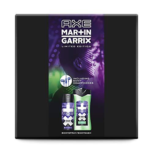 Limited Edition Martin Garrix Geschenk Pack, Deodorant und Duschgel für Männer mit Sony Kopfhörern, das perfekte Geschenk für Musikfans, 150 ml + 250 ml