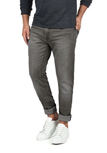 Indicode Quebec Herren Jeans Hose Denim aus Stretch-Material Regular Fit, Größe:W30/34, Farbe:Dark Grey (910)