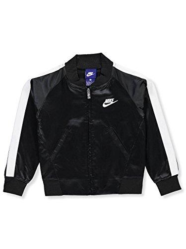 NIKE Girls' Flight Jacket - Black, 5
