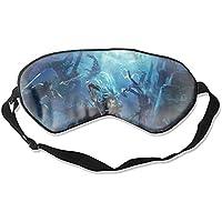 Fashion Fantasy Unterwasser-Schlafmaske für Frauen, blaues Haar, Schwert Dolch, super glatt, Seiden-Eyeshade preisvergleich bei billige-tabletten.eu