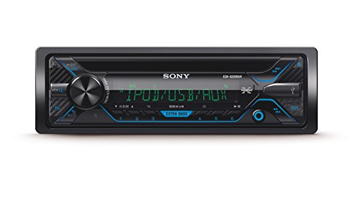 Sony CDXG3200UV Autoradio con Lettore CD, USB, Aux, Controllo per iPod e iPhone, Potenza Massima di Uscita 4 x 55 W, Nero
