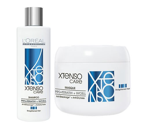 L'Oreal Professional X-tenso Care Straight Shampoo 230 mL & Masque 200 mL Combo Pack