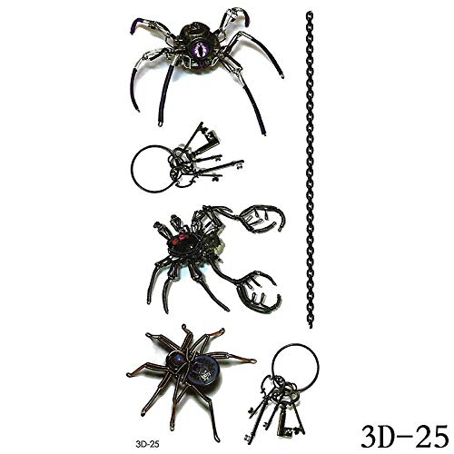 adgkitb Schmetterling Blume Tier Tattoo Aufkleber 3D-025 9x19cm