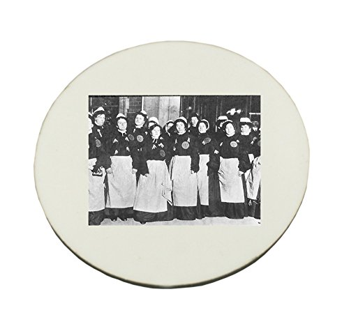 Circle Mousepad with sufferage women