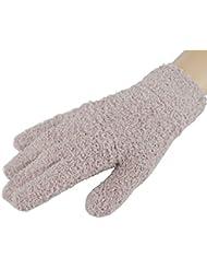 Femmes / Filles d'hiver Finger chaud Gants en peluche, 1 paire,kaki