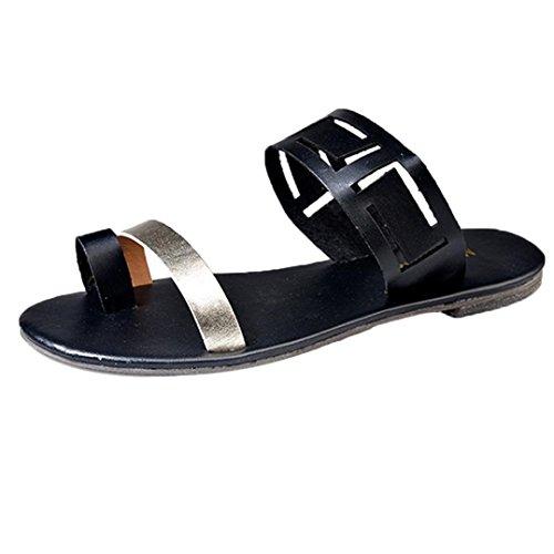 Sandales Femme Ete Ansenesna Sandales pour Femmes Plates Cheville Boucle Gladiateur Tong Tongs Occasionnels Chaussures D'éTé