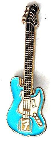 Anstecker, Brosche mit Rockmusik-Motiv, elektrische Fender-Gitarre, Metall und Emaille (Elektrische Fender-gitarre Bei)