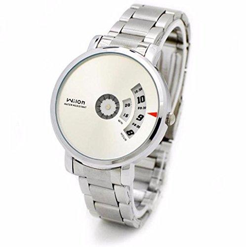 relojes hombre Sannysis cocodrilo hombres de cuero reloj analógico, color blanco
