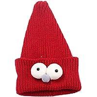 Insect Enfants mignons faits à la main Resile Chapeau d'hiver Bébé chapeau chaud, vino rojo