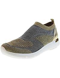 Uma Parker New York Scarpe Donna Sneaker Bassa 170119FK Fly KITTING Oro 583d7444d40