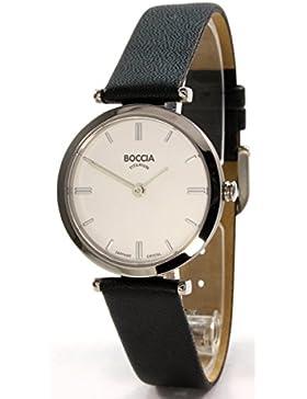 Boccia Damen-Armbanduhr Analog Quarz Leder 3253-01