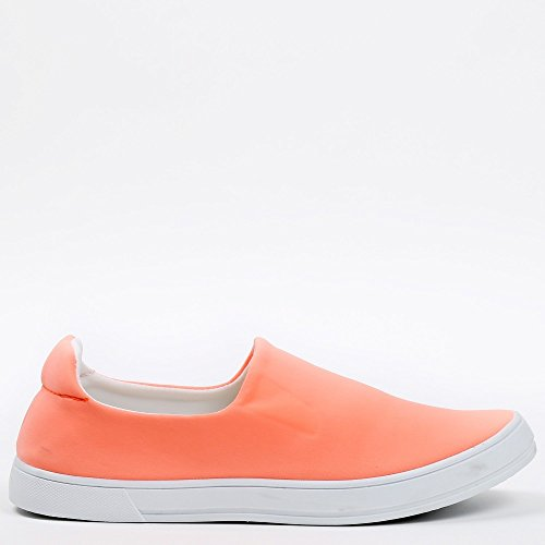 Ideal Shoes - Slip-on en néoprène Kaina Orange