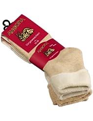 Lot de 4 paires de chaussettes épaisses douces Angora - revers peluche confortable