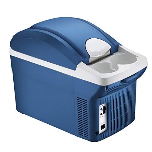 Car Refrigerator 8L Auto KüHlschrank Auto Dual-Use Mini KüHlschrank KüHlung Kleine Haushalt Schlafsaal Heizung Und KüHlung KüHlschrank - Blau