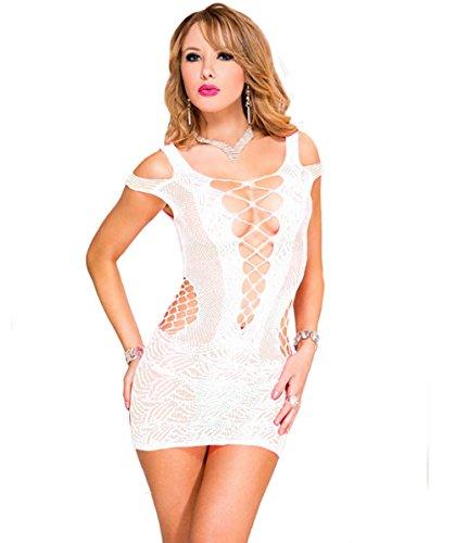 Reizwäsche Dessous Sexy Erotik Damen Dessous Set Negligee Weiß 44