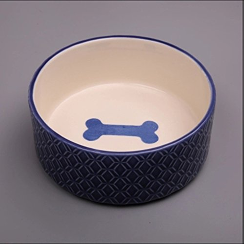 AosyGFR Pet Keramik Schüssel Katze Schüssel Dog Bowl Drink Basin Große Hundebecher -