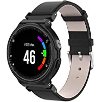 WEINISITE Watch Strap for Garmin Forerunner 235,Leather Replacement Band for Garmin Forerunner 235/220/230/620/630/735 Smart Watch