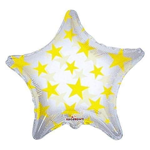 Kaleidoscope Yellow Star Foil Mylar Balloon, 5 Piece by Kaleidoscope