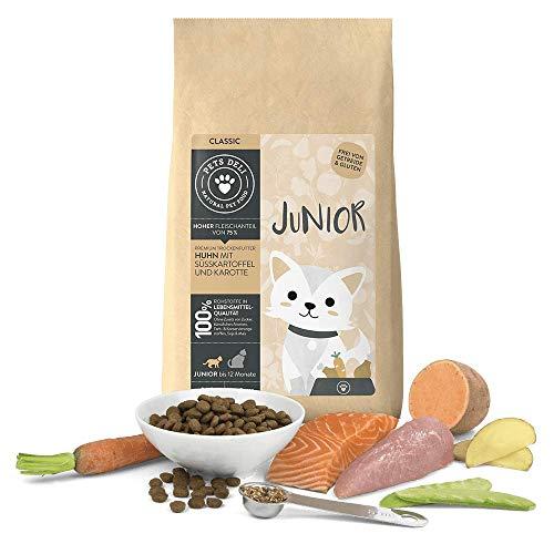 Junior Katzenfutter trocken 2 kg | Premium-Qualität | Huhn mit Süßkartoffel | Trockenfutter für junge Katzen mit 75{4053c741ba2750640cf8f716fe88478bdb2ddbba739e1c9246c59e5a7bfb18ad} Fleisch- & Fischanteil, getreidefrei und ohne unnötige Zusätze