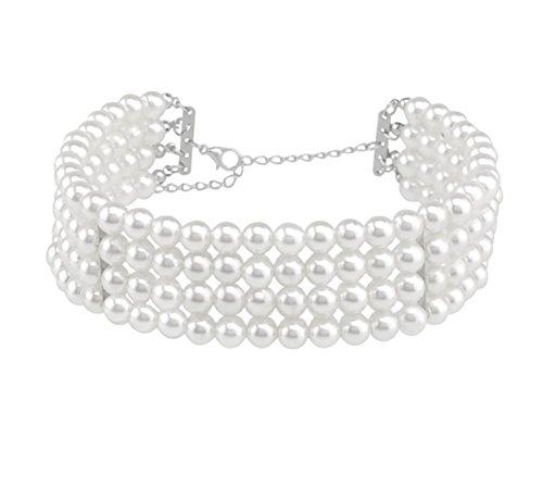 Preisvergleich Produktbild XX Perlenkette , C1761 White,c1761 white