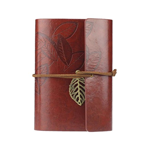 covermason-vintage-style-leaf-pu-leather-cover-blank-notebook-journal-diary-gift-dark-red