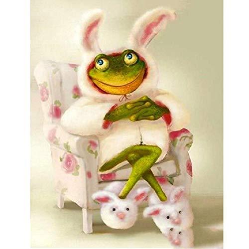 AZYVv Puzzle 1000 Teile 3D Erwachsene Puzzles Frosch Im Hasen Kostüm Art DIY Leisure Game Spielzeug Heimtextilien (Hunde Kostüm Irland)