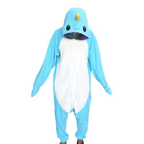Pyjama Unisex Erwachsene Cosplay Kostüme Light Blue (Narwal Kostüme)
