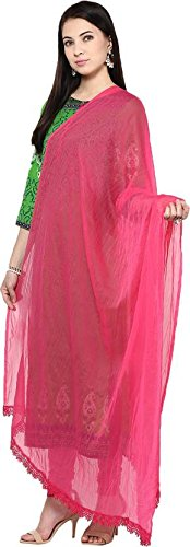 Dupatta Pink from Zoya Collection_ZC19_Pink_Standard Size | dupatta lace | dupatta bazaar...