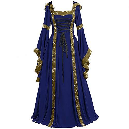 Up Kostüm Pin Haar Girl - FeiXing158 5XL Kleid Cosplay Kostüm Langarm Kleid mittelalterlichen Vintage Rüschen Kleid Kleid bodenlangen Renaissance Gothic