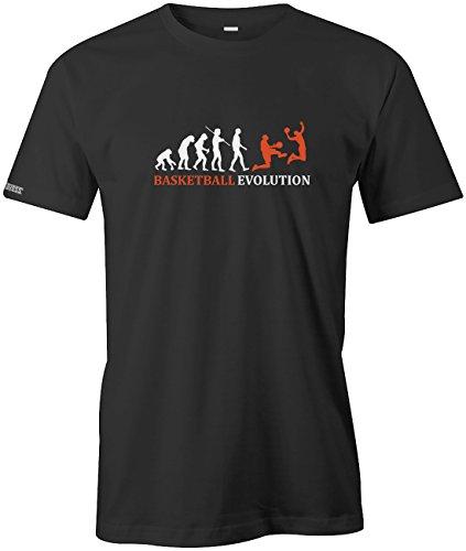 Jayess Basketball Evolution - Herren T-Shirt in Schwarz by Gr. S