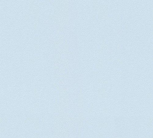 A.S. Création Vliestapete Life 4 Tapete Unitapete 10,05 m x 0,53 m blau Made in Germany 891945 8919-45