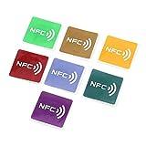 Swiftswan 7pcs Universal NFC Tags multicolores Carré NFC Tag Autocollants Lables Pour NFC-activé Dispositif En Gros