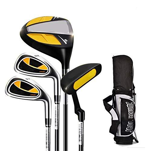 Golfschläger tragen Kinder Golf Putter Indoor und Outdoor Gummi Griff Golf Practice Club für 3-12 Jahre alter Junge und Mädchen mit Golftasche, 1 Satz Golf-Übungsputter ( Farbe : C1 , Größe : 3-5Age )