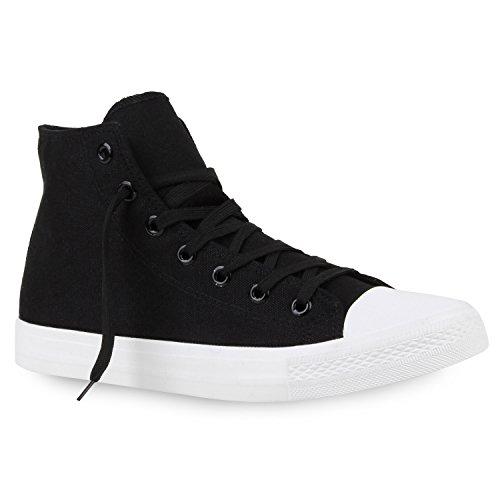 Scarpe Da Uomo Sneakers Sneakers Alte Sneakers In Denim Scarpe In Tessuto Mimetico Lace-up Flandell Nero-bianco