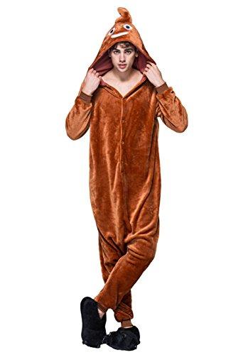 Honeystore Erwachsene Adult Pyjama Cosplay Tier Onesie Nachtwäsche Kleid Animal Sleepwear (Indianer Perücke Kind Männlichen)