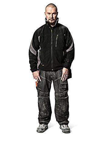 Snickers Winddichte Fleece Jacke  schwarz-grau, Gr. M schwarz-grau