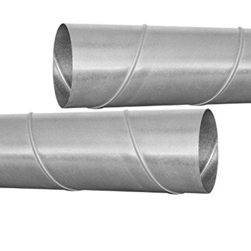 MKK - 10786-007 - Wickelfalzrohr, Lüftungsrohr, Durchmesser von 80mm bis 500mm - Länge 1m (100cm) 250 mm