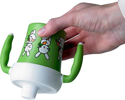 Emsa 509091 Trinklernbecher für Kleinkinder, 0.2 Liter, Soft-Touch Griffe, Grün, Farm Family - 4