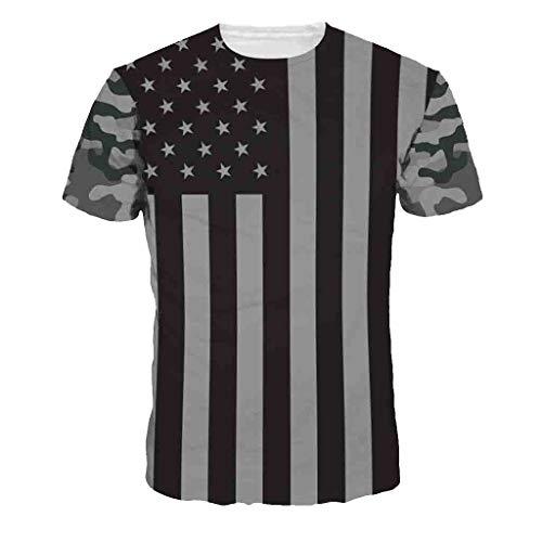 09b1ddf8ff2 Camisa de Manga Corta Moda Casual de Verano para Hombres Deportes Salvajes  de Secado rápido Cuello Redondo impresión Digital 3D Camiseta Fresca