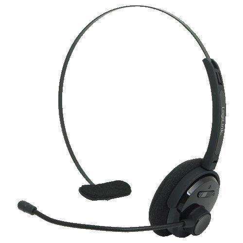 Mono Wireless Bluetooth Headset (LogiLink BT0027 bluetooth Headset, Mono, mit headbund und Mikrofon)