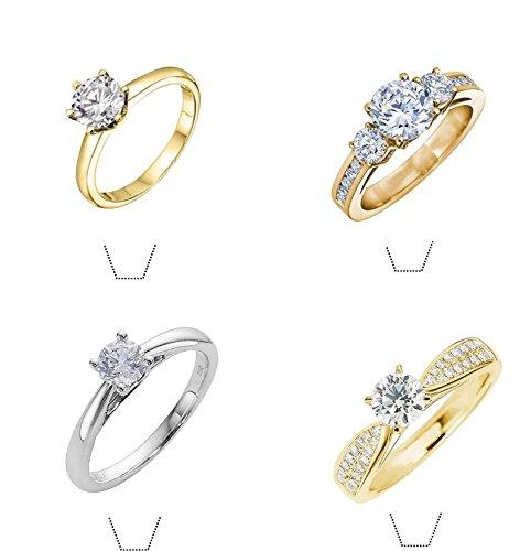 12 x Neuheit Diamant Ring Mix Essbare Standup Wafer Papier -Kuchen-Deckel