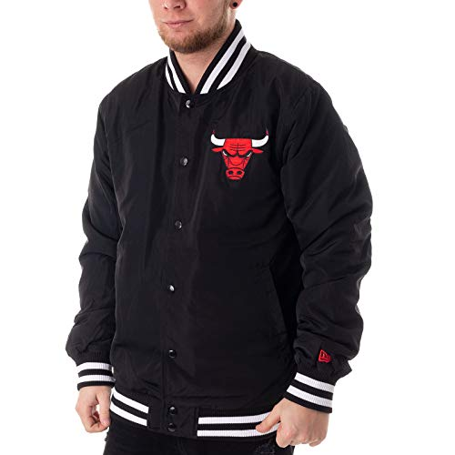 New Era Chicago Bulls Bomberjacke, Schwarz, L
