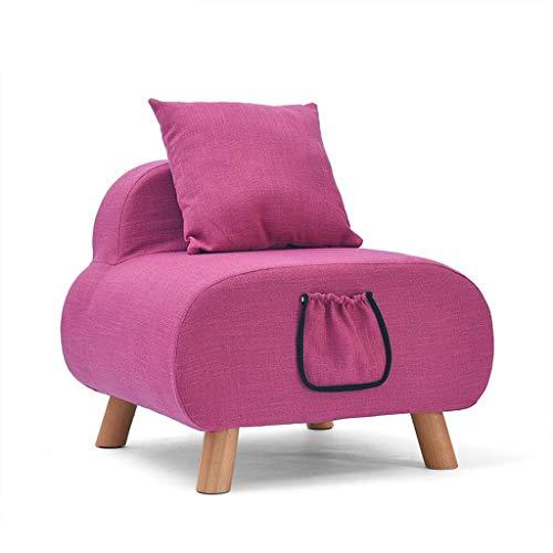 S&RL Hocker Stuhl Sitz Schuhbank Kleines Sofa aus Stoff Moderne Einfachheit Lounge-Sessel Niedliche Kinder Sofa Schlafzimmer Sofa Stuhl Waschbar Lagerung Design mit Kissen, c
