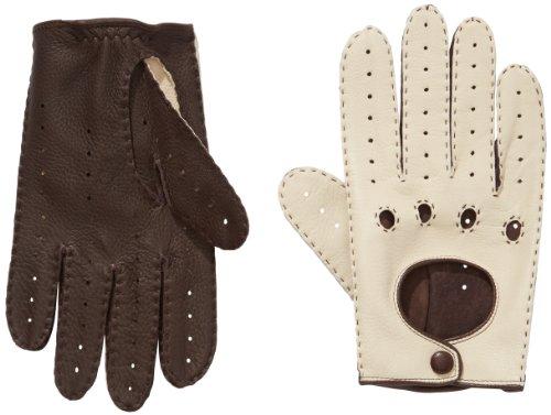 Roeckl Damen Classic Driver Deer Handschuhe, Beige (Ecru/Coffee 906), 8.5 - Klassische, Ungefütterte Handschuhe